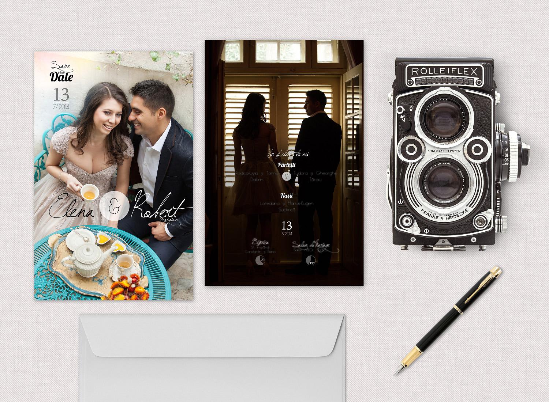 Elena & Robert - Invitatie de nunta personalizata