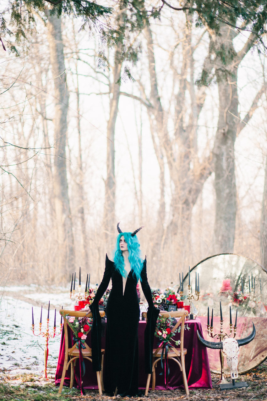 Dark Fairytale Wedding - Styled Shoots