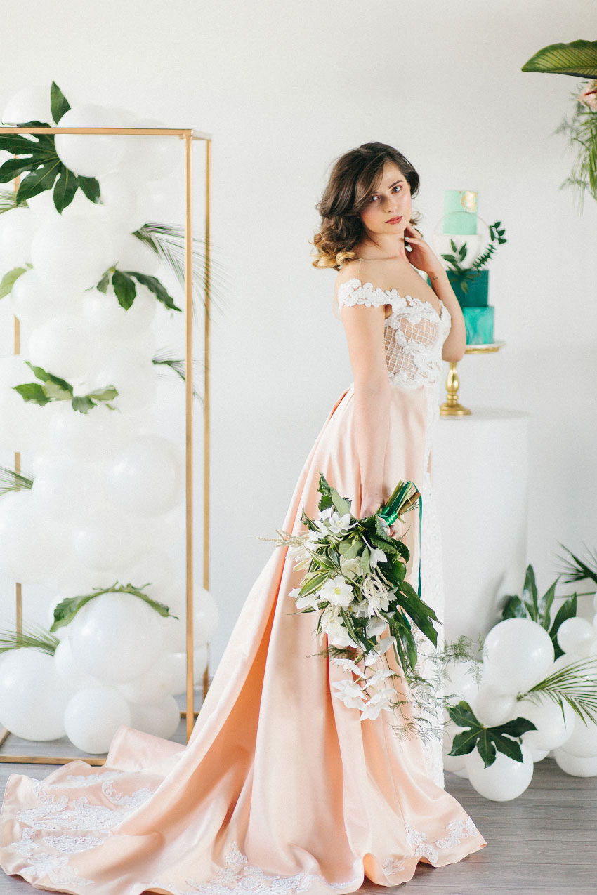 Tropical Inspired Wedding